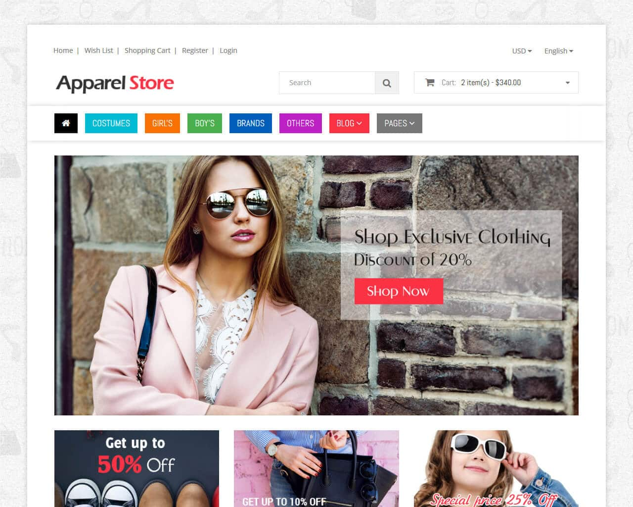 Shoppe Stores Website Template