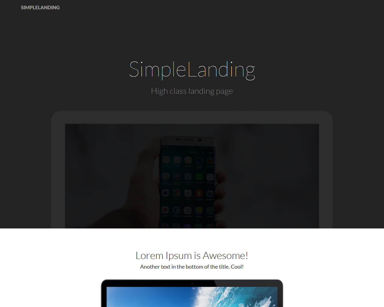SimpleLanding Website Template