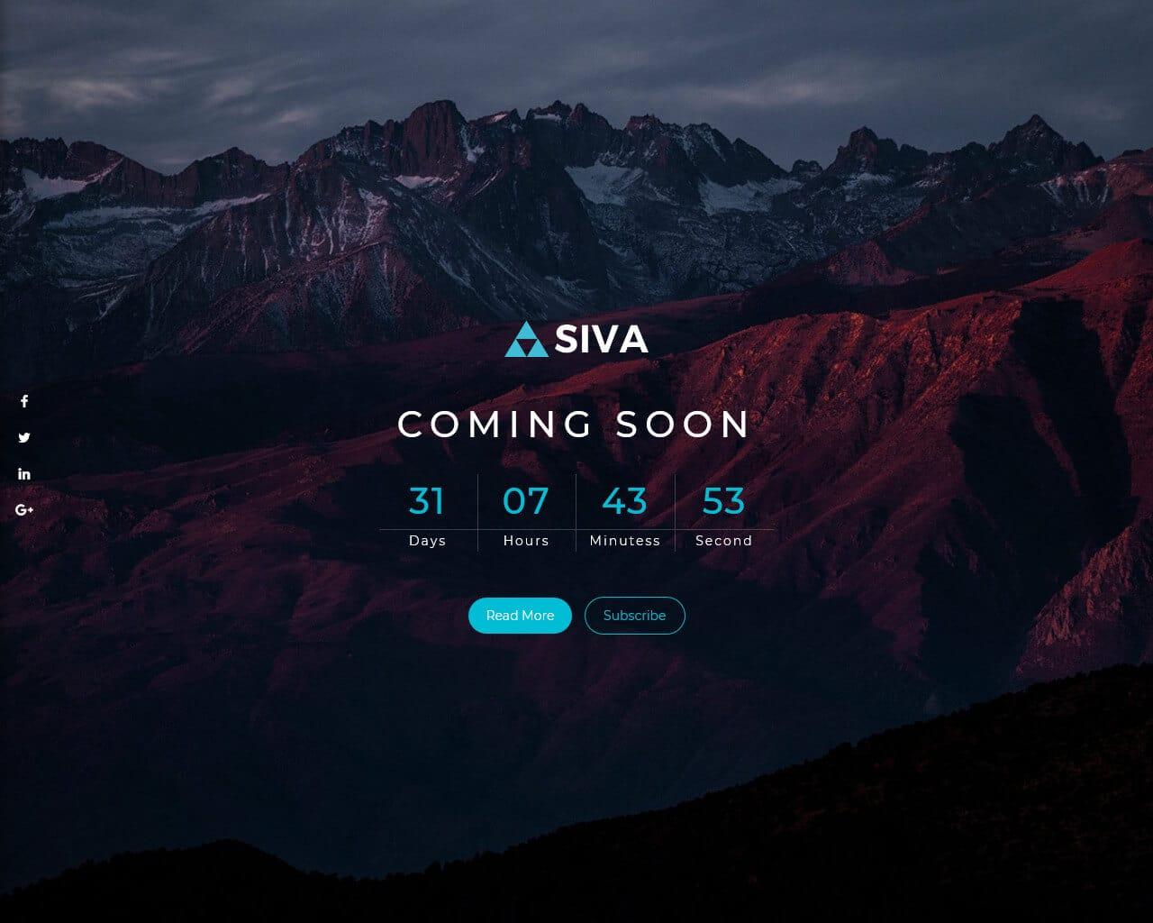 SIVA Website Template