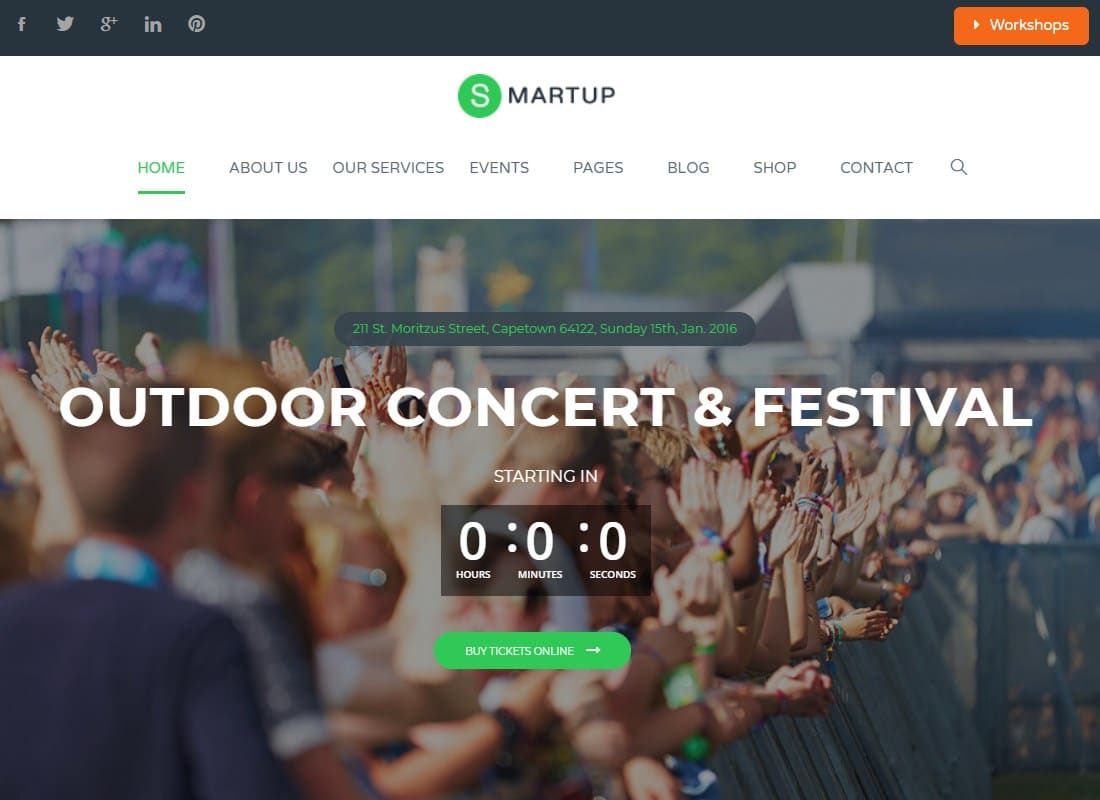 Smart Up - Conference & Event Management WordPress Theme Website Template
