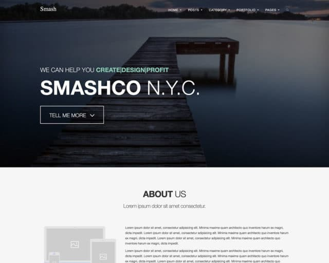 Smash – Bold Multipage/Onepage Bootstrap Template