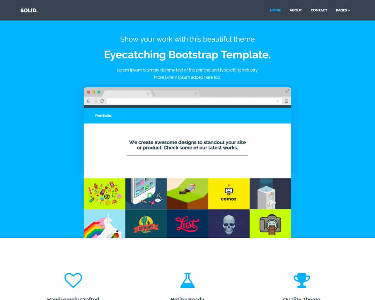Solid Website Template