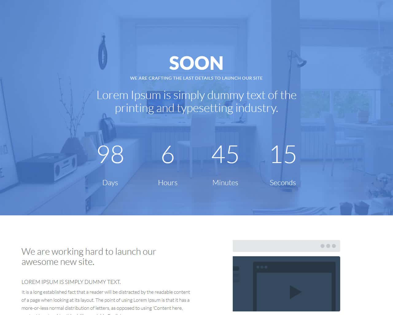 Soon – Website Under Construction Template