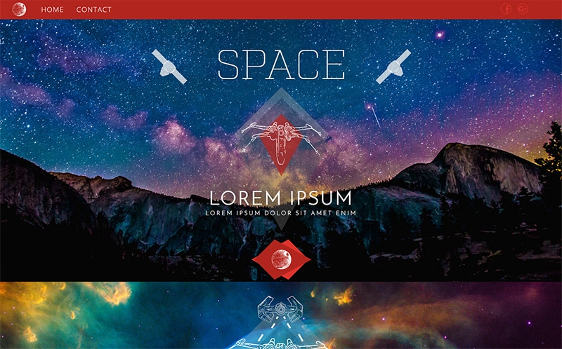 Space Website Template