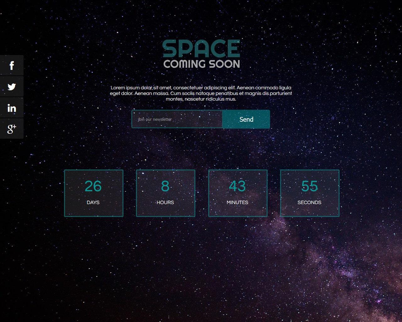 Space Website Template