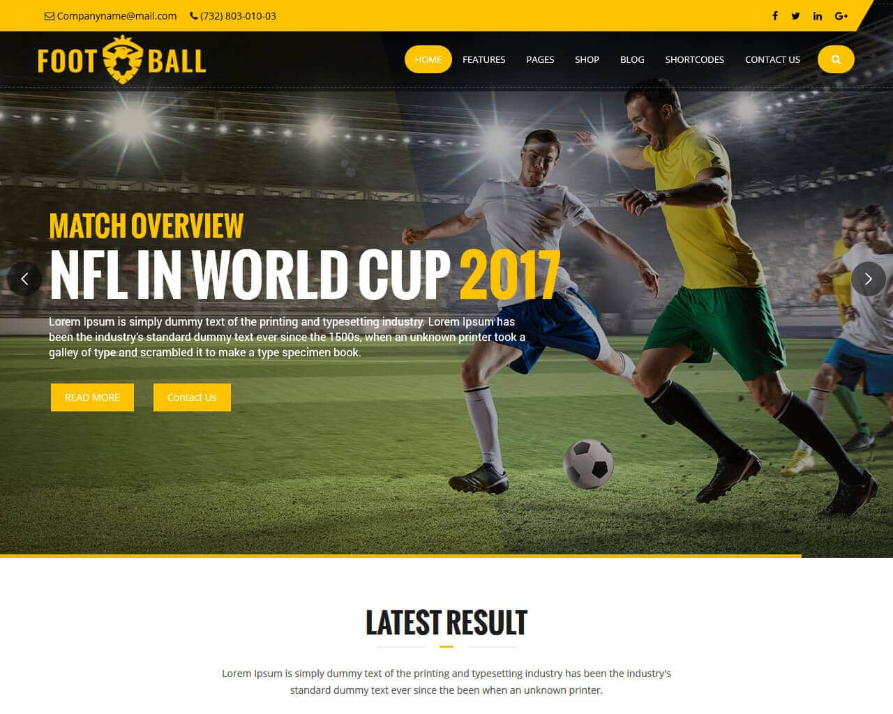 SportsZone Website Template