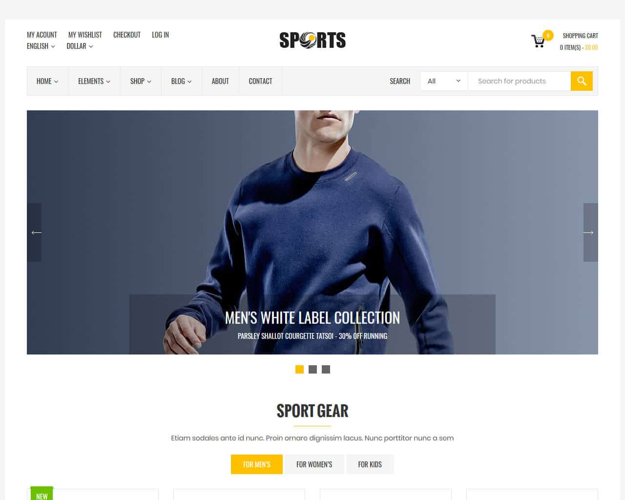 Sport Shop Website Template
