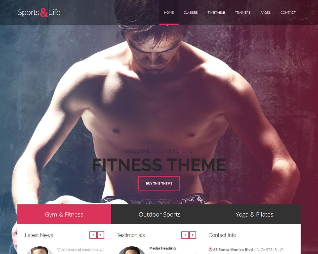 Sports&Life Website Template