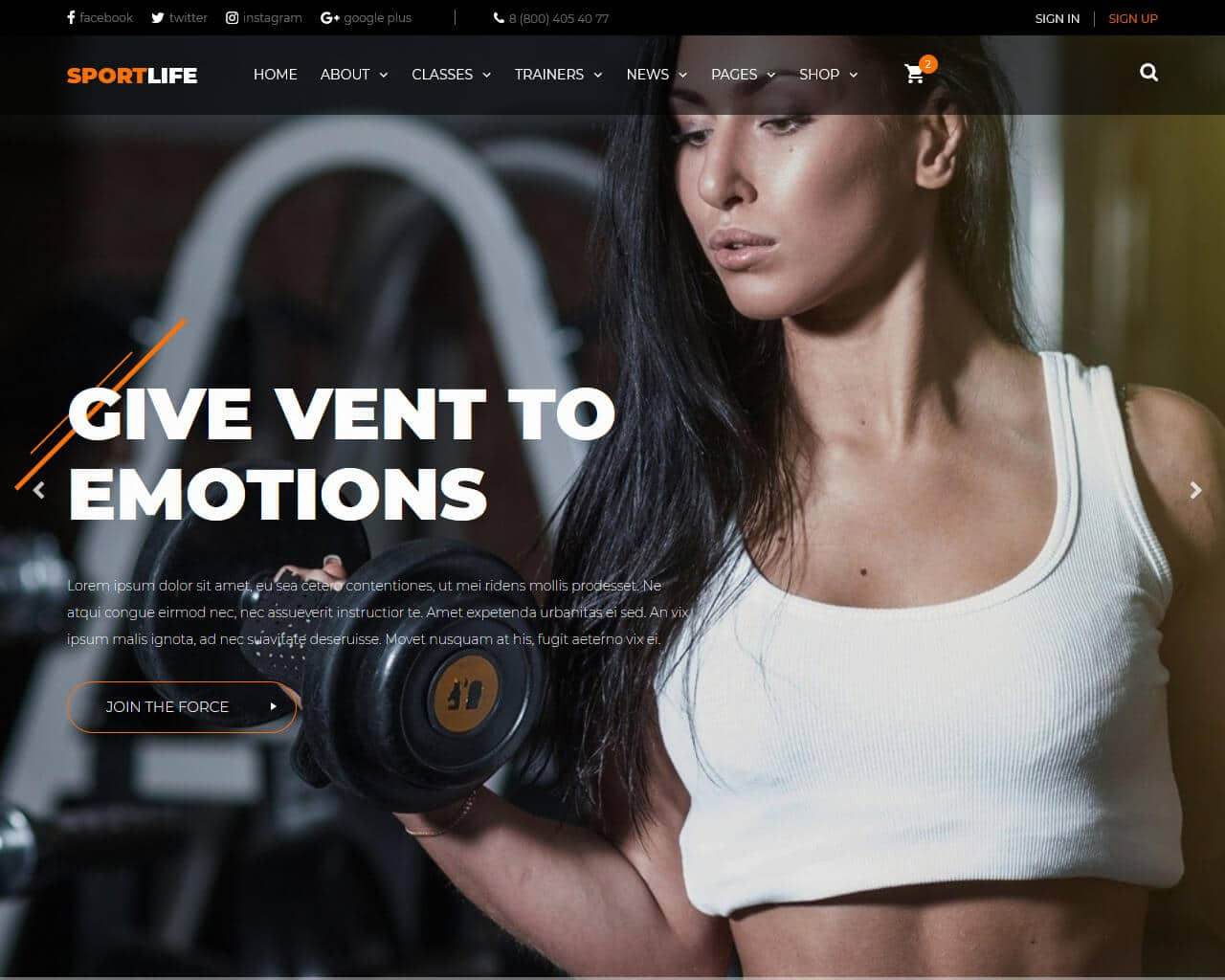 SportLife Website Template