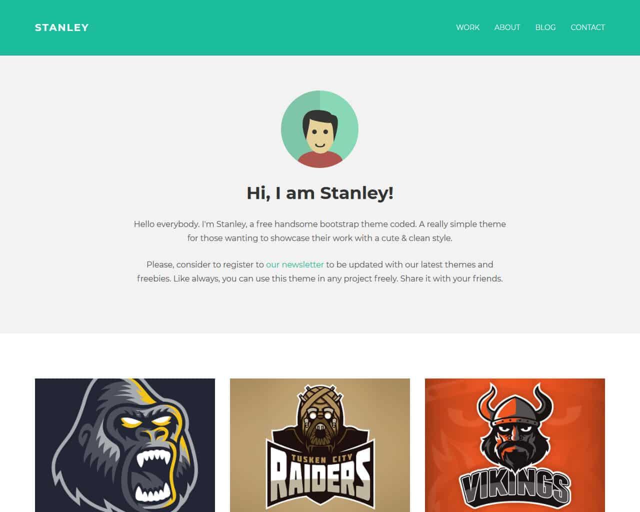 stanley bootstrap freelancer template templatemag