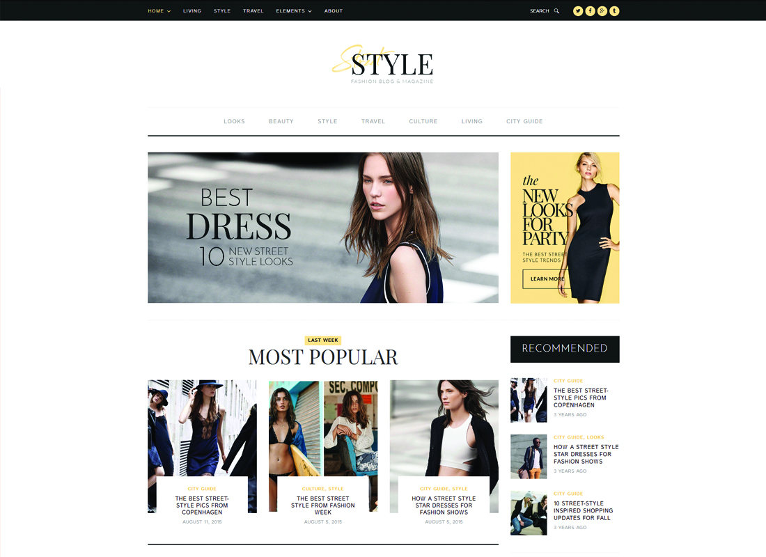 Street Style | Fashion & Lifestyle Personal Blog WordPress Theme Website Template