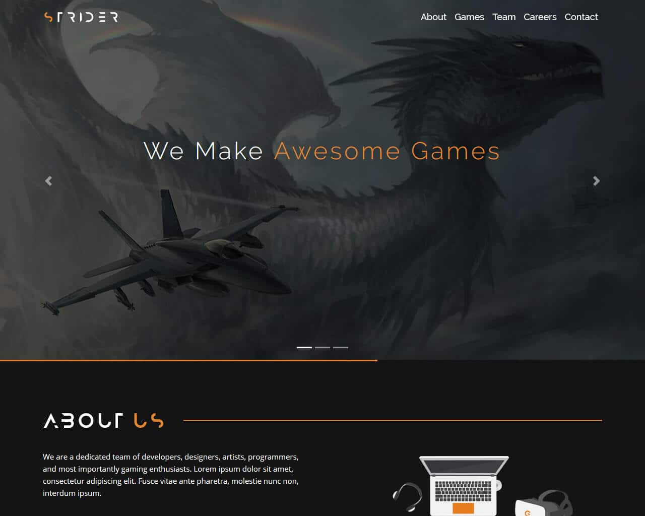 Strider Website Template