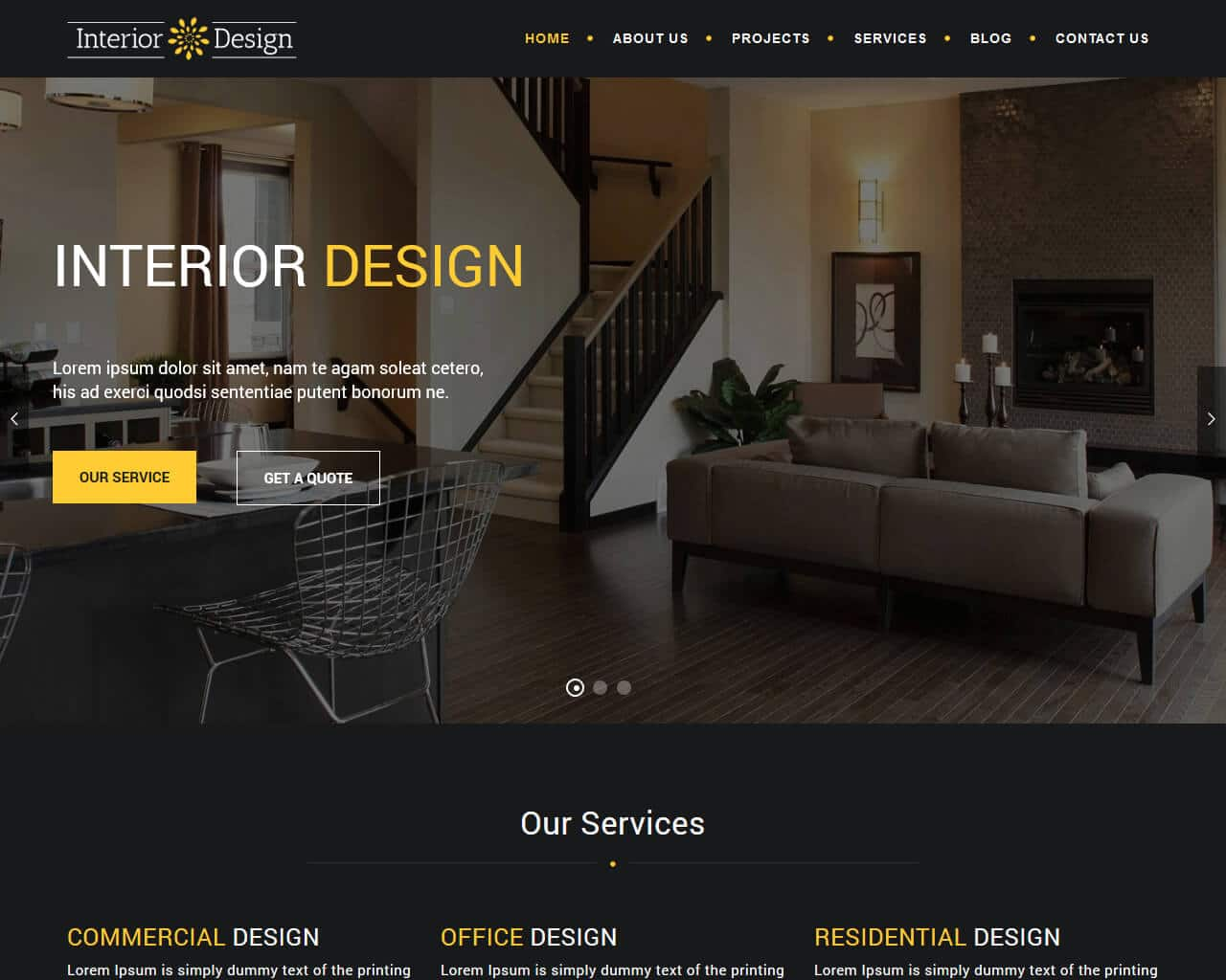 20+ Eye Catching Interior Design Website Templates 2018