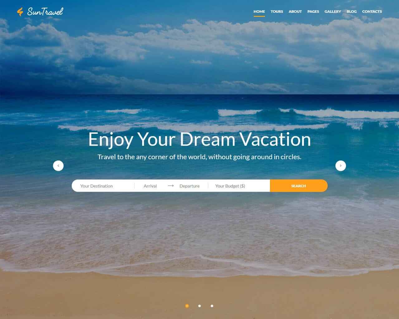 Sun Travel Website Template