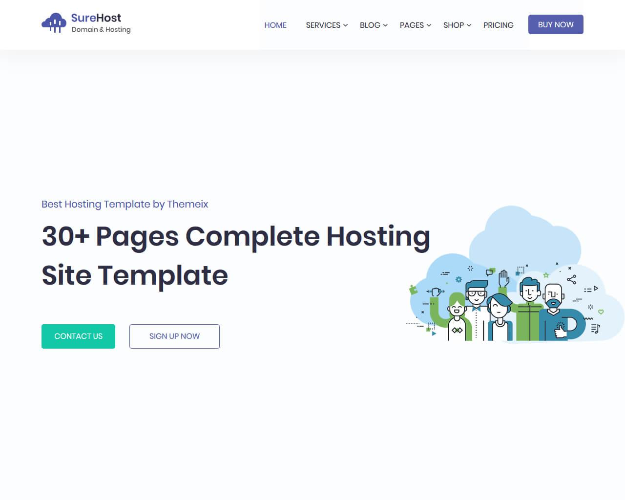 SureHost Website Template