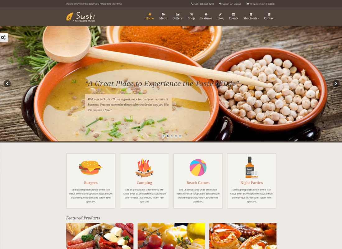 Sushi Restaurant | Food & Restaurant Theme Website Template