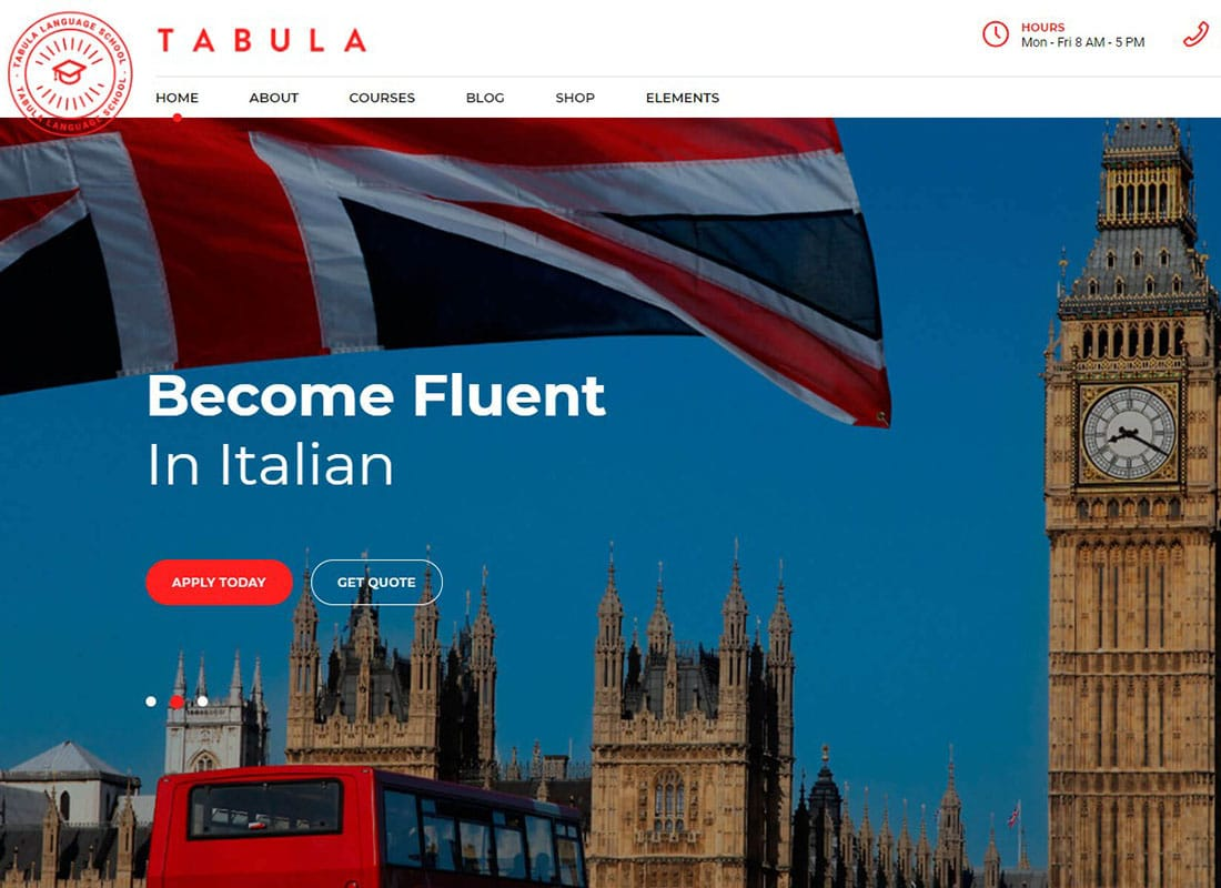 Tabula - Art, Music & Language School Website Template