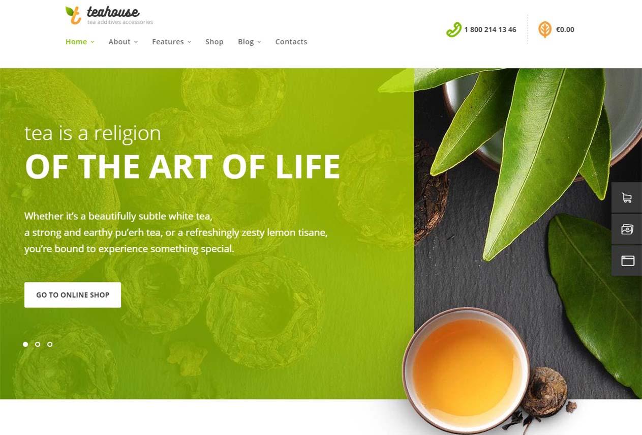 TeaHouse   Tea Store and Coffee Shop WordPress Theme Website Template