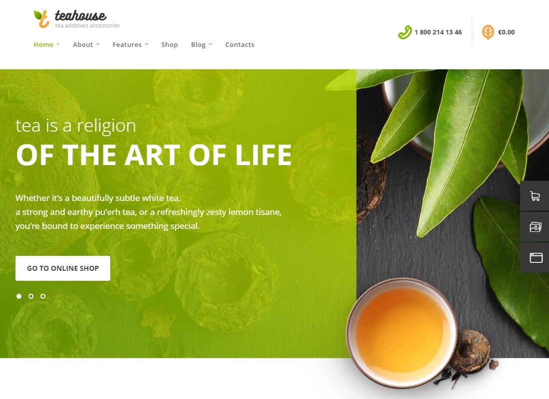 TeaHouse | Tea Store and Coffee Shop WordPress Theme Website Template