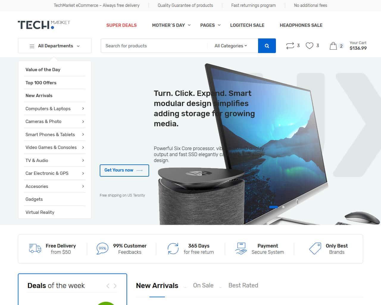 Techmarket Website Template