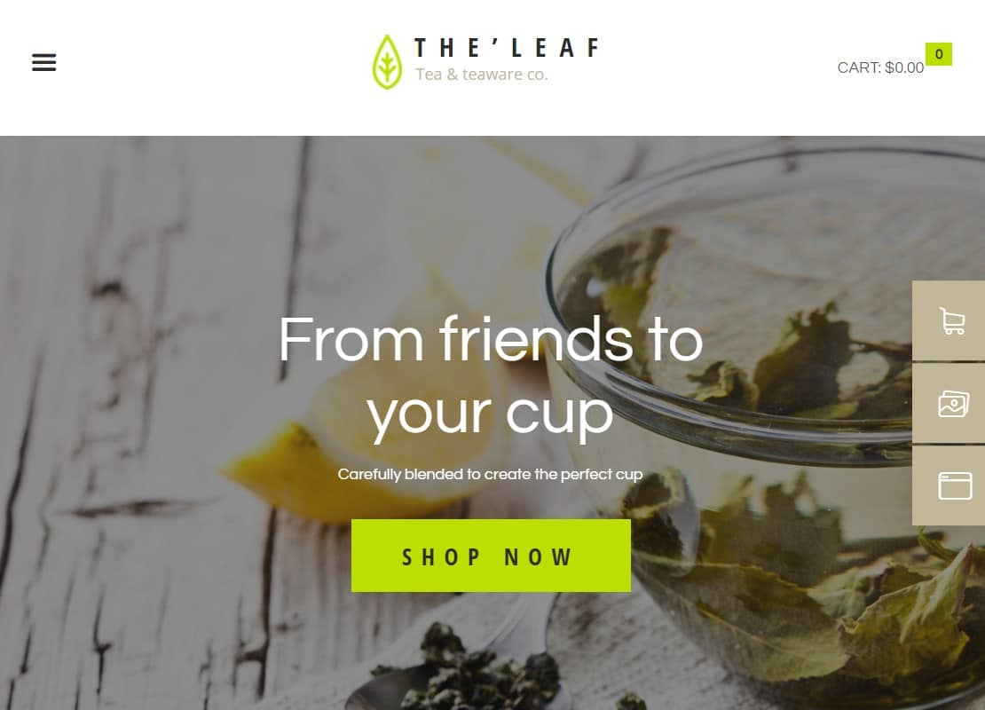TheLeaf - Tea Production Company & Online Coffee Shop WordPress Theme Website Template