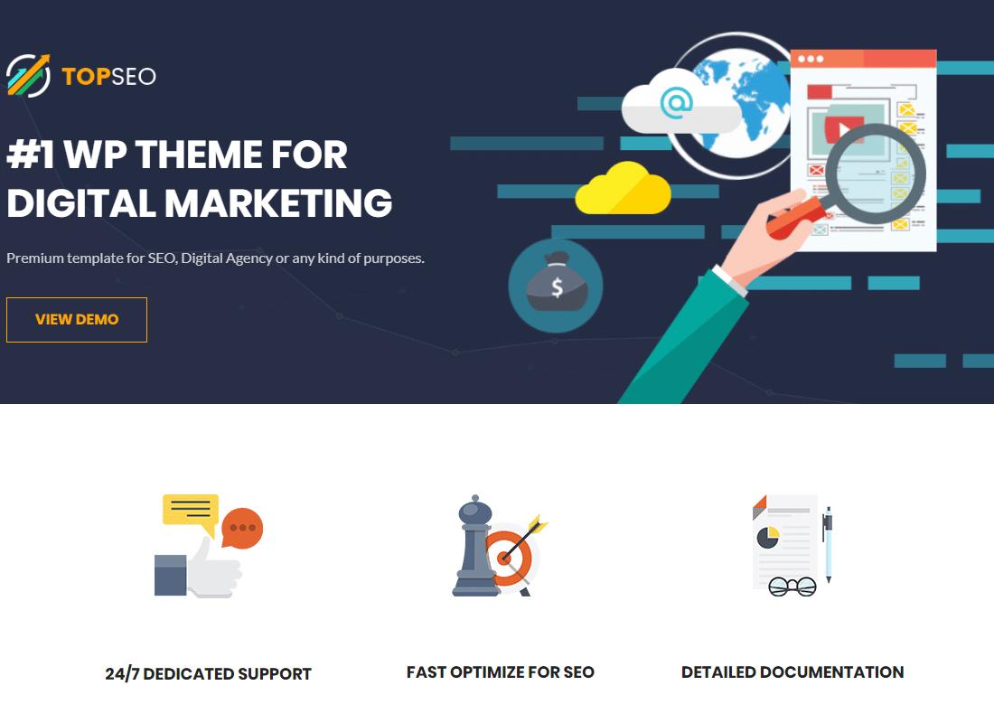 TopSEO | SEO, Digital Marketing WordPress Theme  Website Template