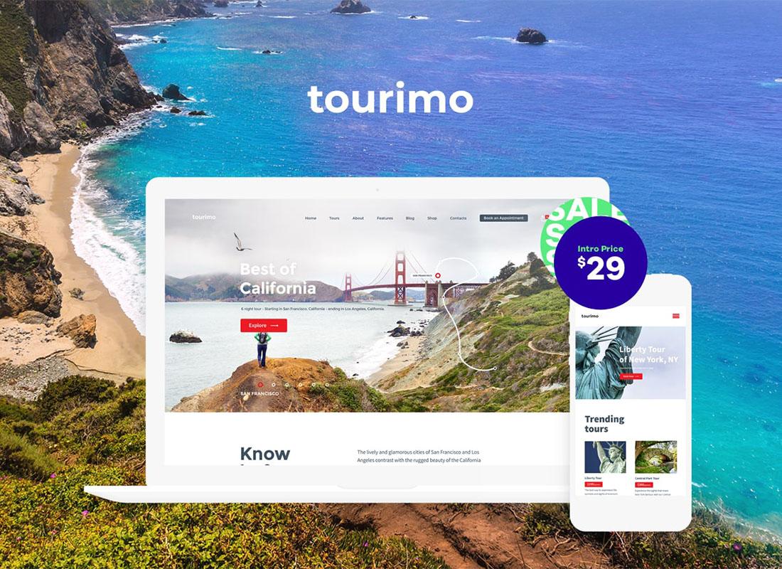 Tourimo - Tour Booking WordPress Theme Website Template