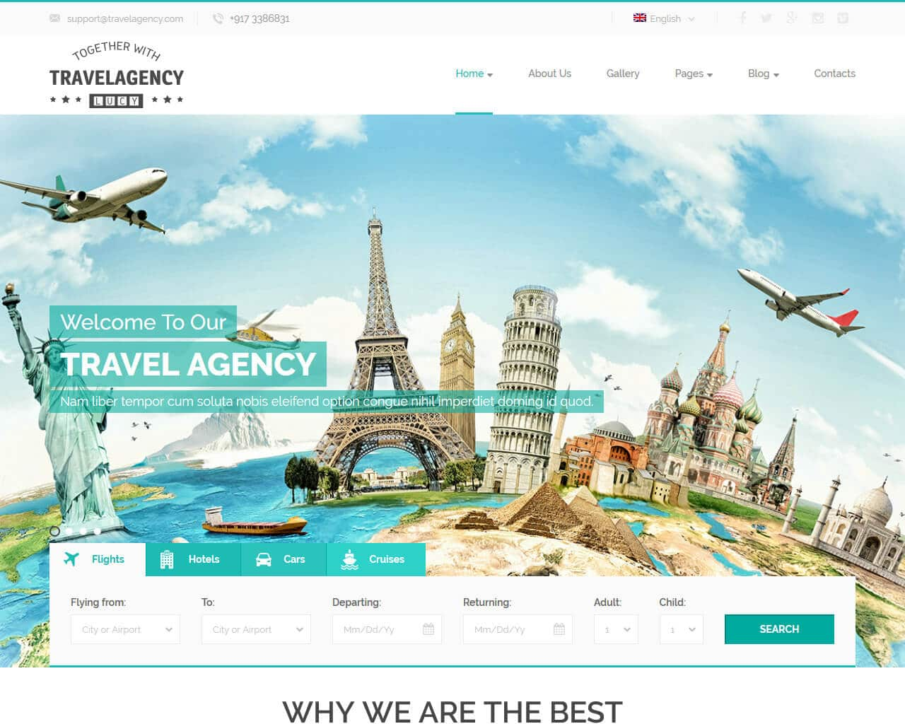 Travel Agency Website >> 20 Top Travel And Accommodation Website Templates 2018 Templatemag