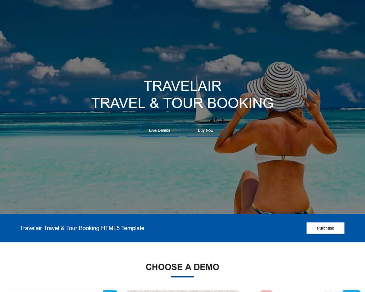 Travelair Website Template