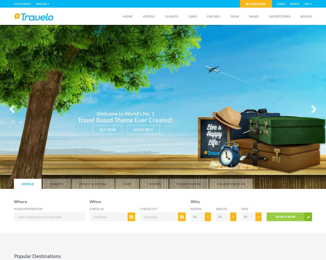 Travelo Website Template
