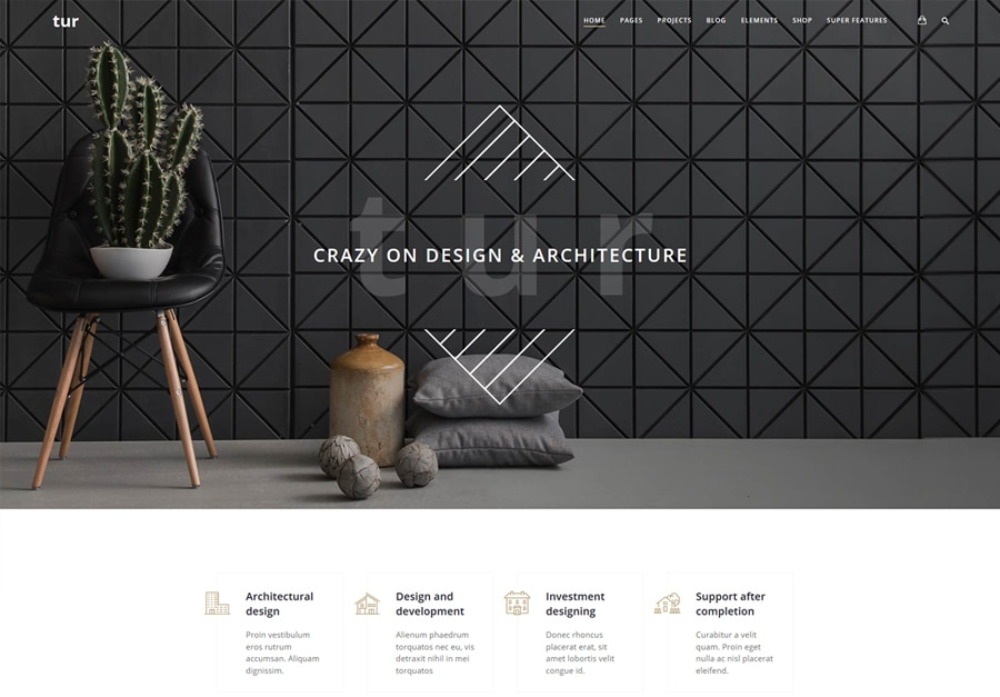 Tur | Architecture WordPress Theme Website Template