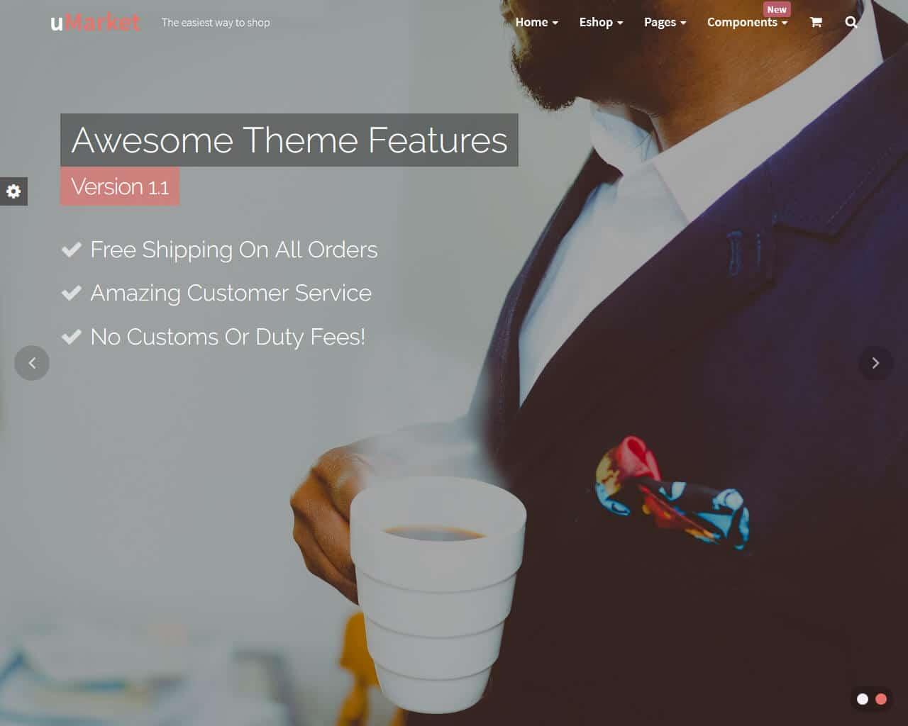 uMarket Website Template