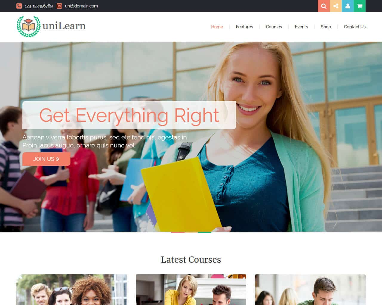UniLearn Website Template