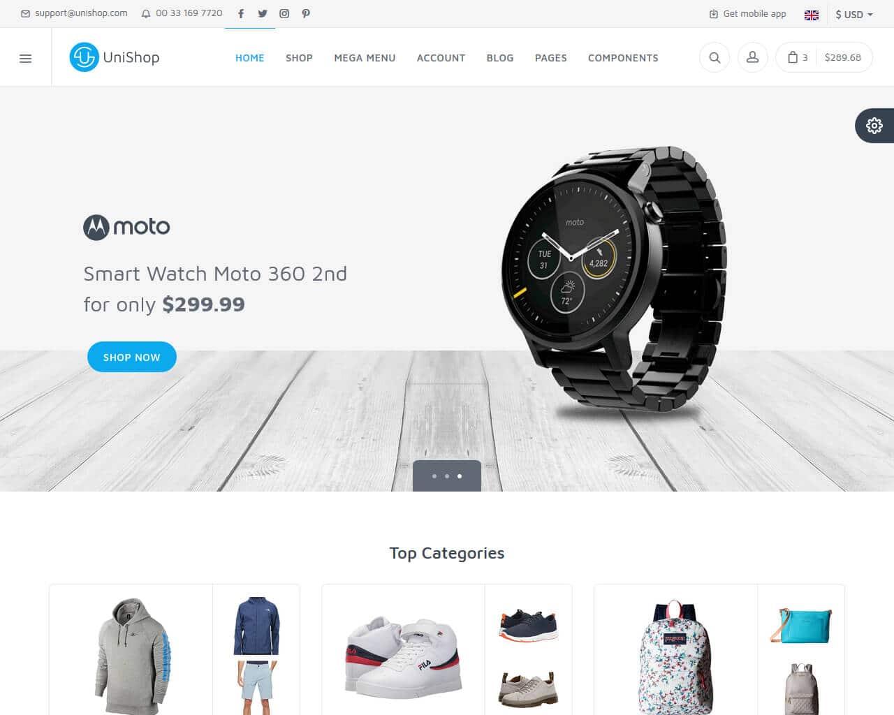 Unishop Website Template