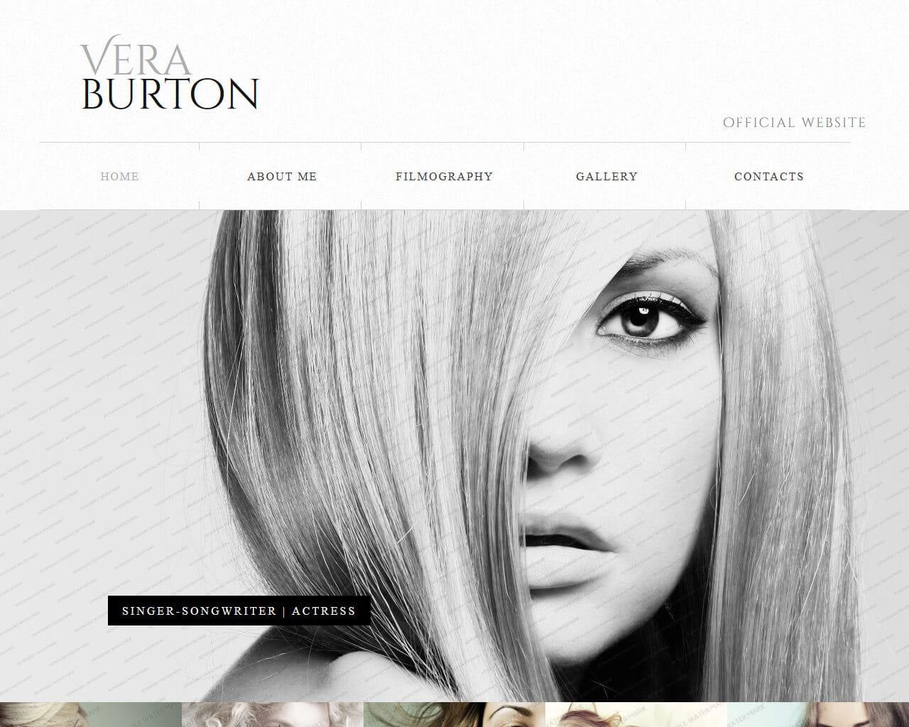 Vera Burton Website Template