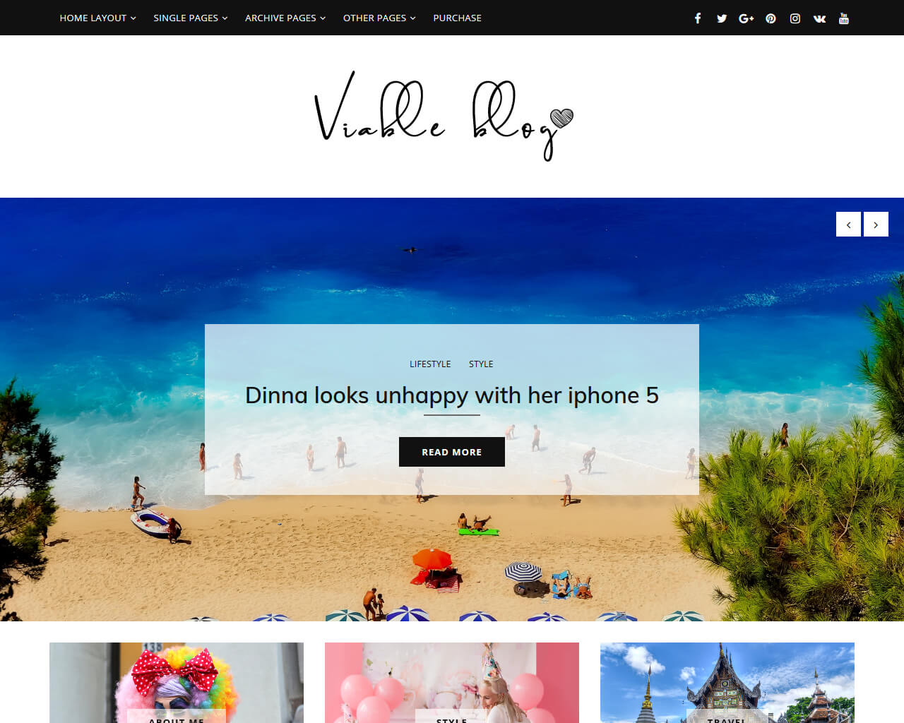 Viable Website Template