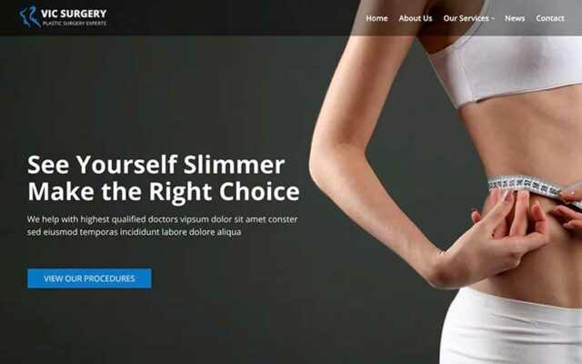 Plastic Surgery WordPress Themes for Reconstructive Clinic Websites
