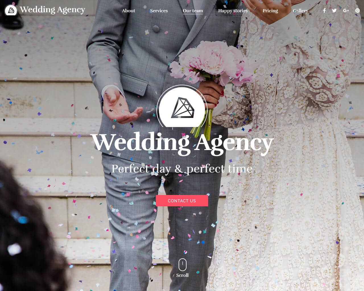 Wedding Agency Website Template
