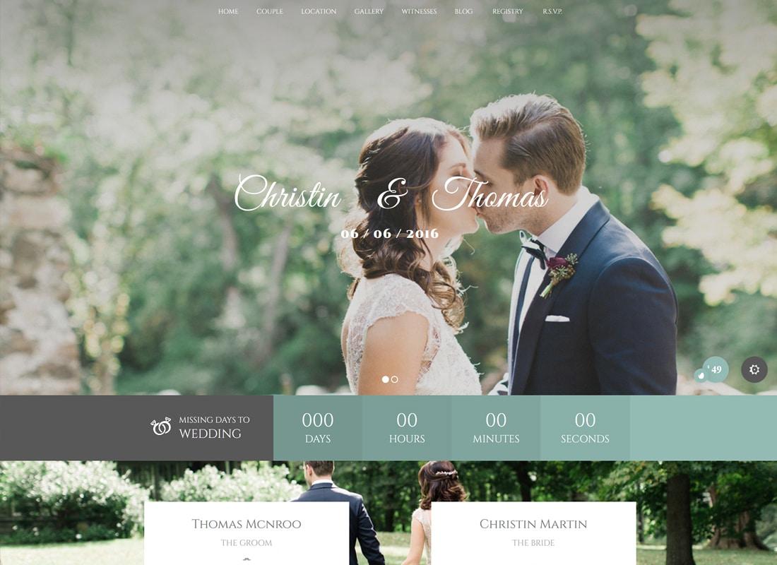 Wedding Industry - Wedding Multipurpose Couple WP Website Template