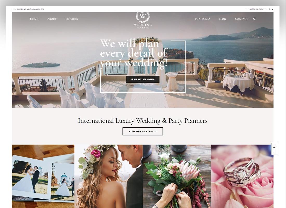 Wedding Planner - Responsive Wedding Theme Website Template