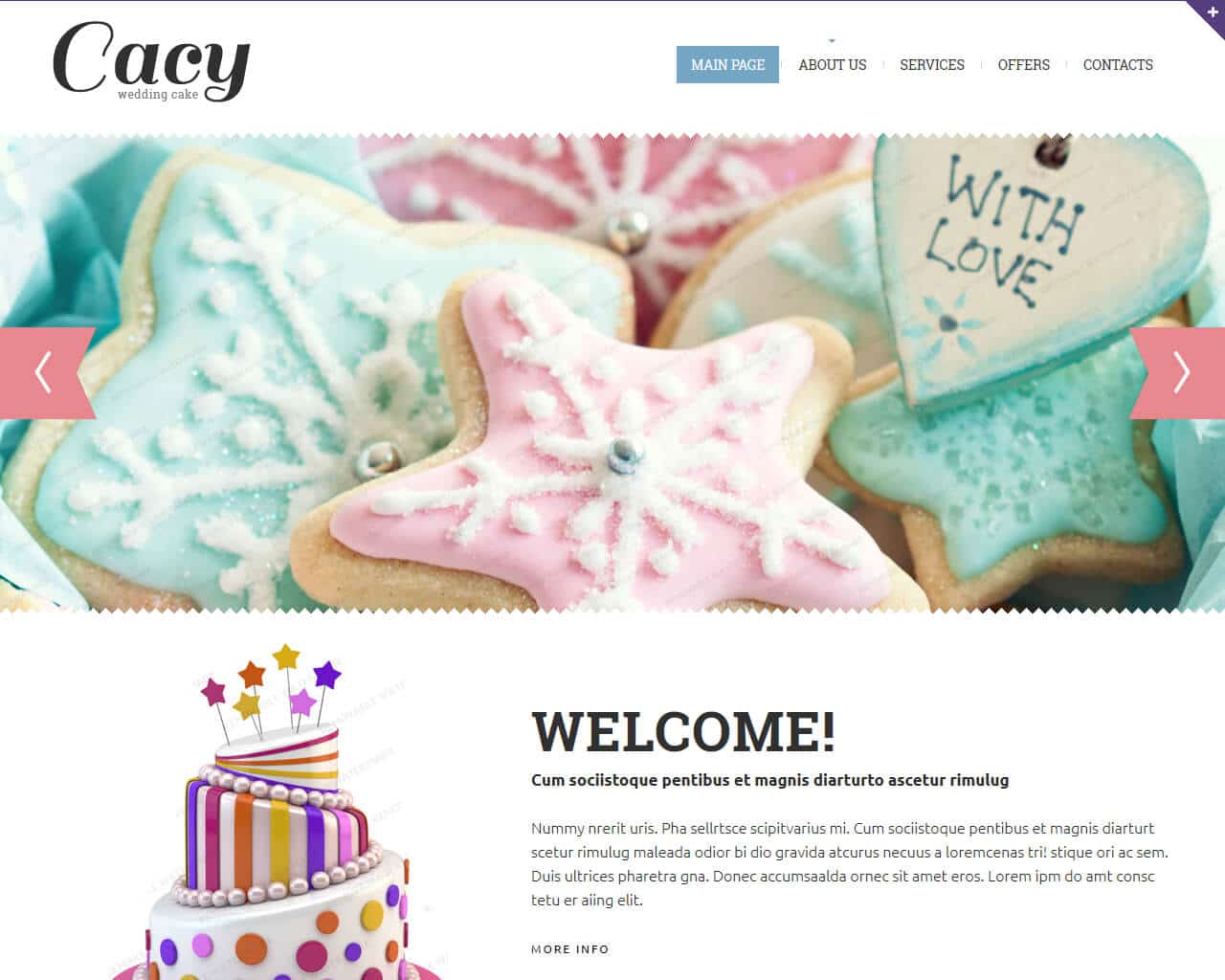 Wedding Cake Website Template