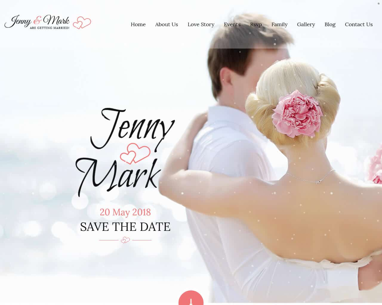 Wedding Invitation Website Template
