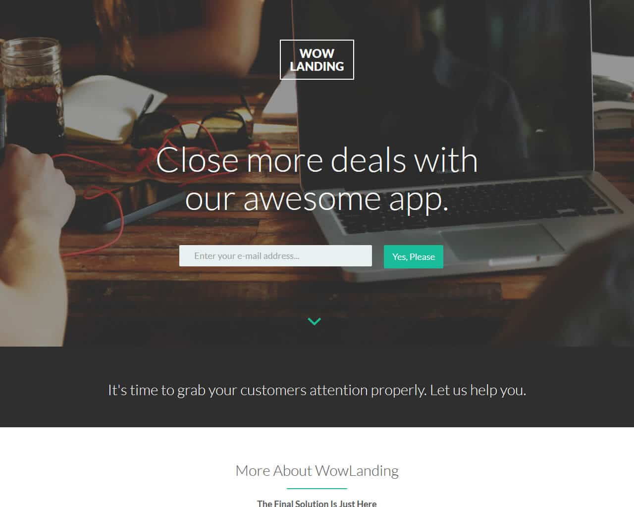 WowLanding Website Template