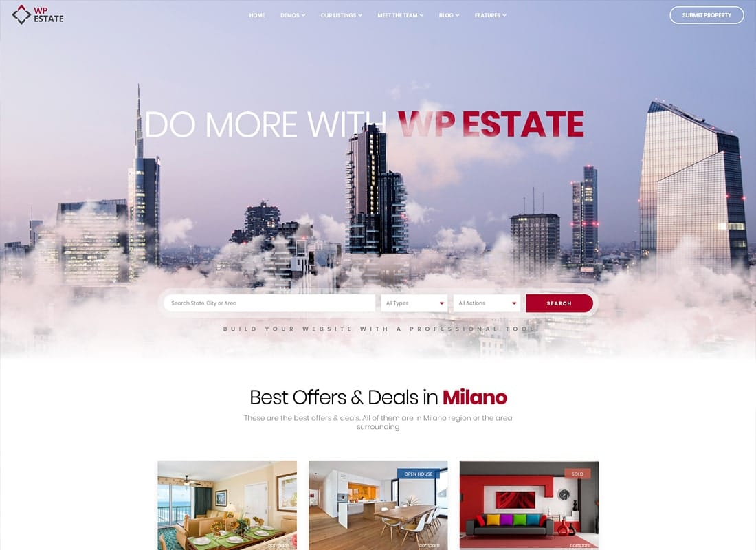 Real Estate - WP Estate Theme Website Template