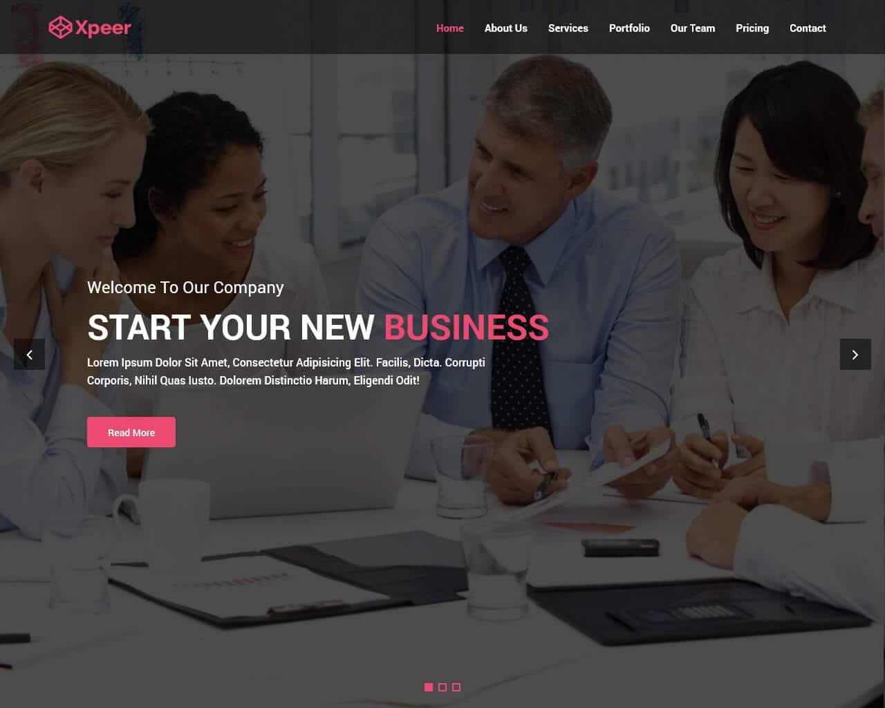 Xpeer Website Template