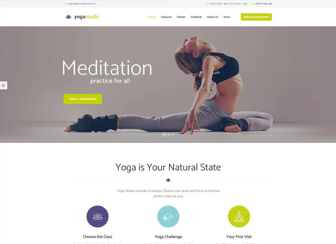 Yogastudio | Yoga, Gym and Healthcare WordPress Theme Website Template