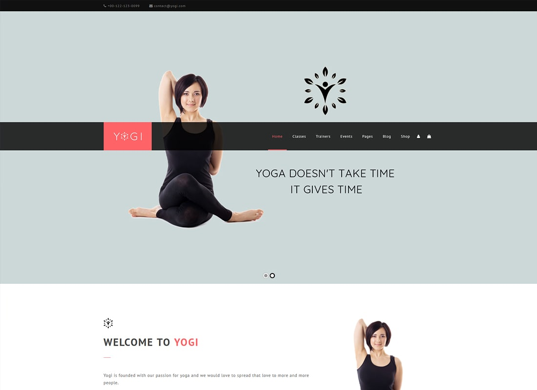 Yogi - Health Beauty & Yoga WordPress Theme Website Template