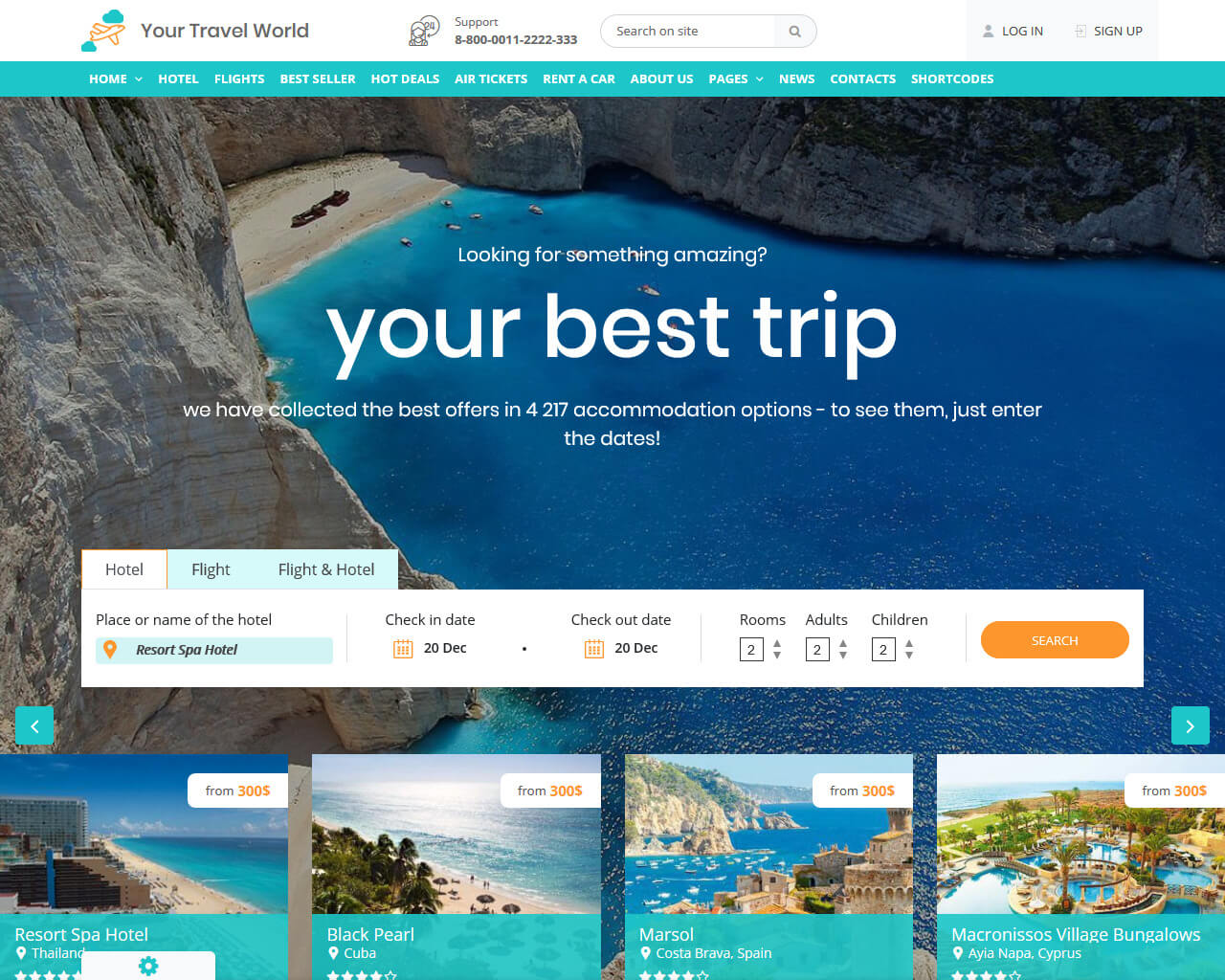 Your Travel World Website Template