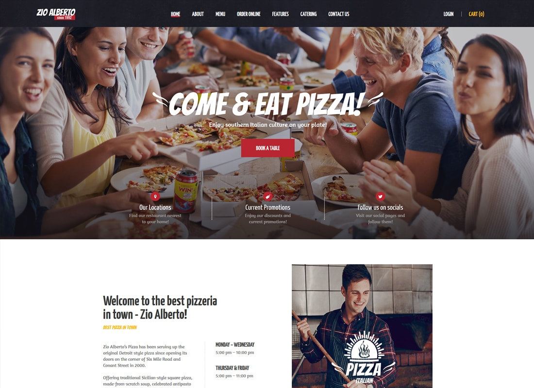Zio Alberto - A Restaurant Cafe Bistro WordPress Theme Website Template